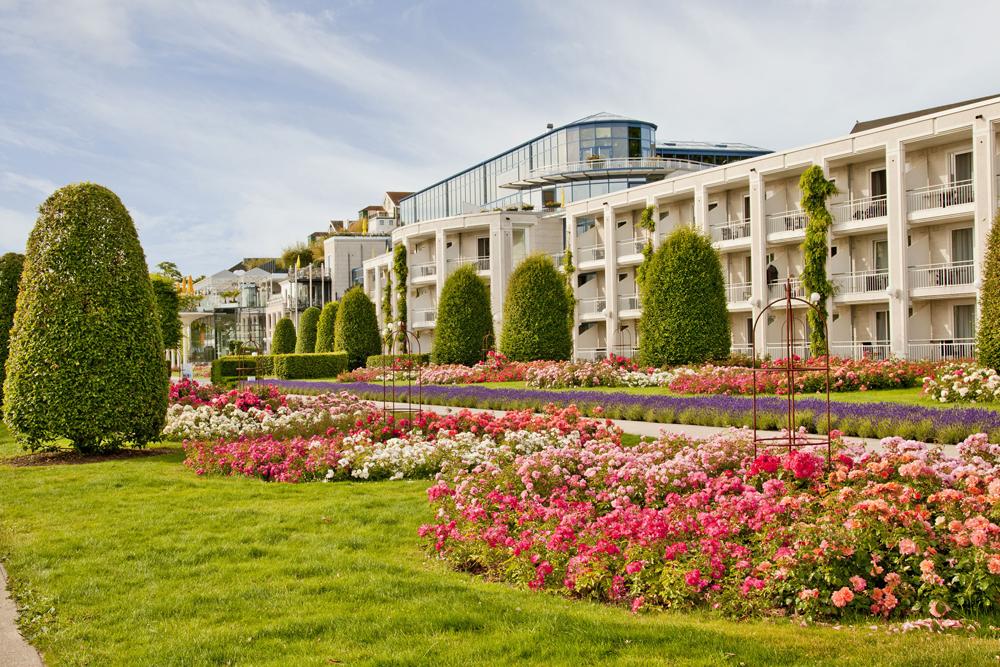 Hotel Kaiserhof Heringsdorf auf Usedom im Sommer